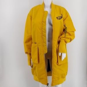 Nike NSW Women's Yellow MA-1 Bomber Jacket M for sale